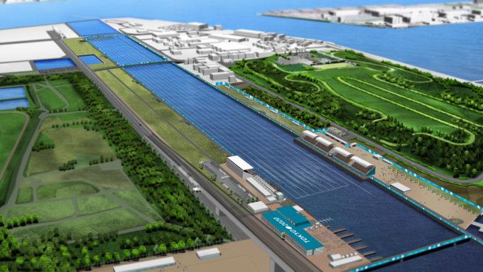 Tokyo 2020 Olympic lake