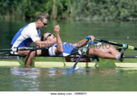 Estonia's Tonu Endrekson (L) and Jueri Jaanson celebrate their victory after the final of the men's double sculls at the final stage of the 2007 Rowing World Cup on Lake Rotsee outside of Lucerne July 15, 2007. REUTERS/Andreas Meier (SWITZERLAND)