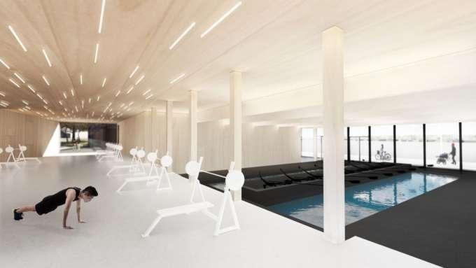 Selgus Pärnusse rajatava Rääma sõudekeskuse arhitektuurikavand